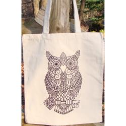 OWL       -TOTE TO COLOR