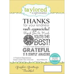 THANKFUL  -CLING STAMP