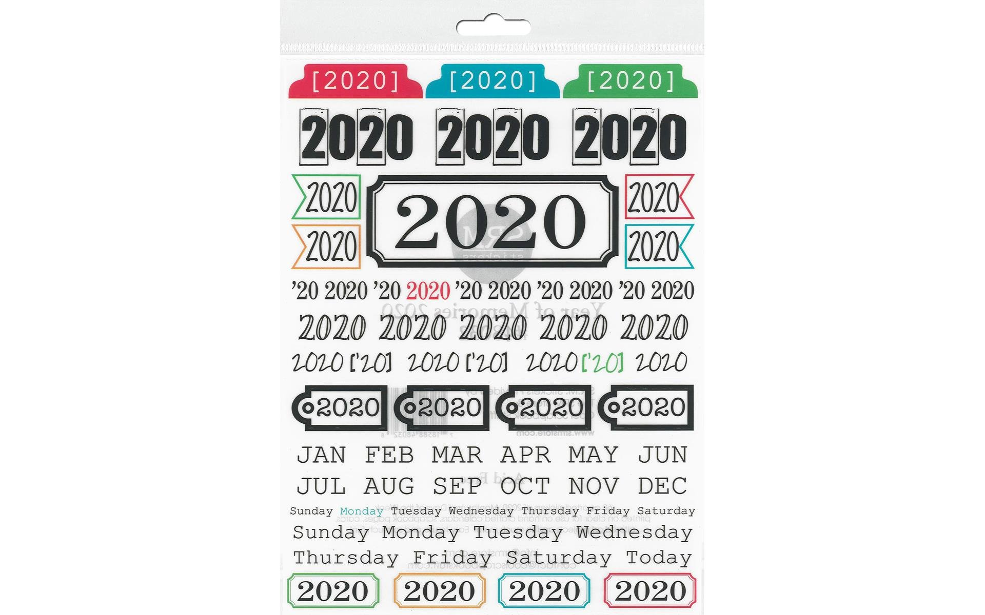 SRM Press Sticker Year Of Memories 2020