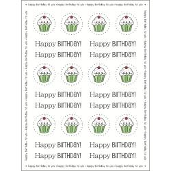 BIRTHDAY  -STICKERS BY THE DOZN