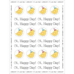 SRM HOLIDAY BIRTHDAY BIRDIE STICKERS