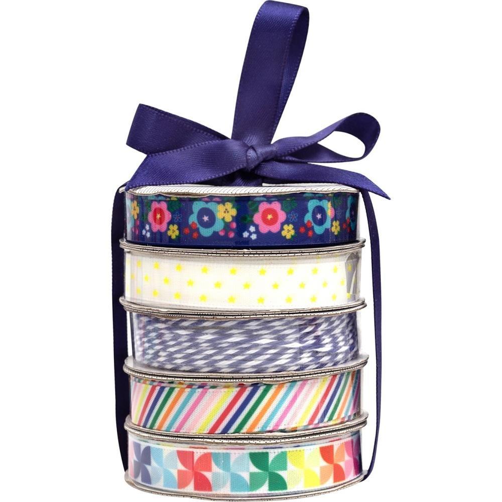 American Crafts Premium Ribbon & Twine 5/Pkg-Cheerful