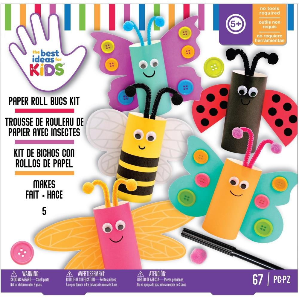 American Crafts Best Ideas For Kids Craft Kit-Paper Roll Bugs
