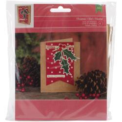 MRRY/HOLLY-CHRISTMAS CARD KIT