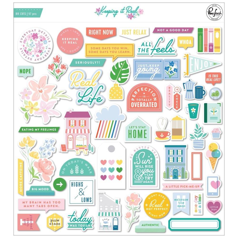 PinkFresh Cardstock Die-Cuts-Keeping It Real