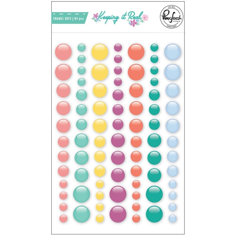 PinkFresh Enamel Dot Stickers-Keeping It Real