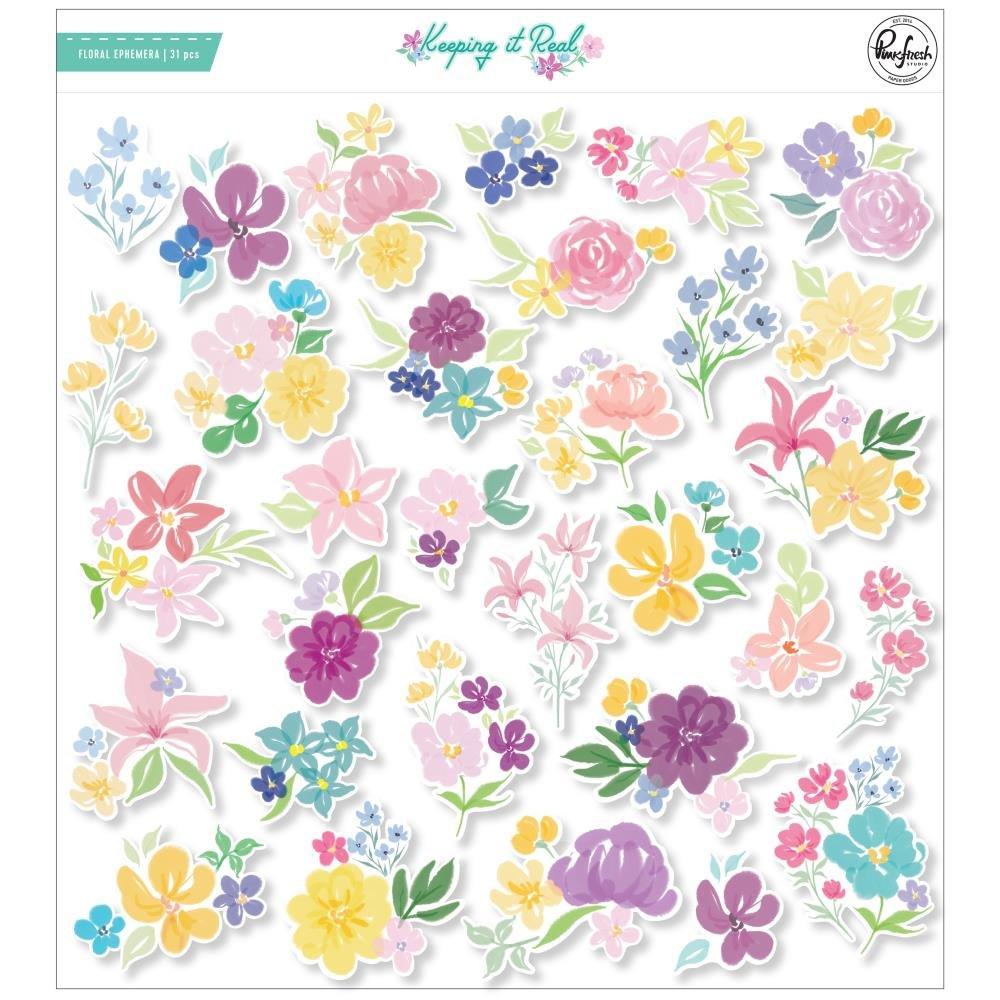 PinkFresh Floral Cardstock Die-Cuts-Keeping It Real
