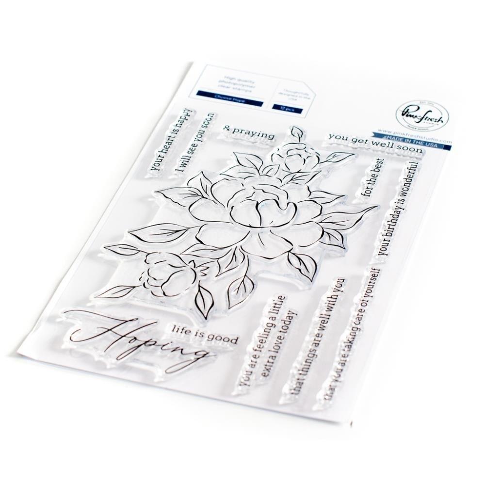 Pinkfresh Studio Clear Stamp Set 4X6-Choose Hope