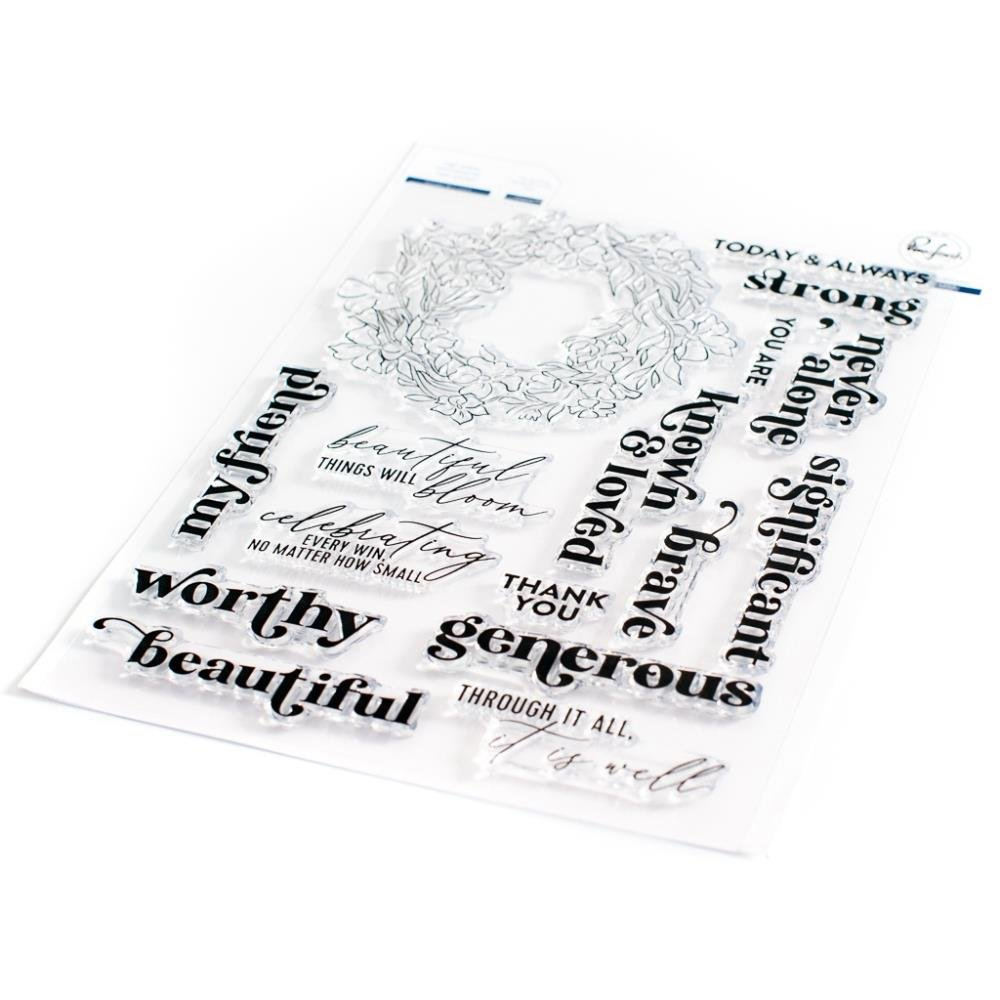 Pinkfresh Studio Clear Stamp Set 6X8-Known & Loved