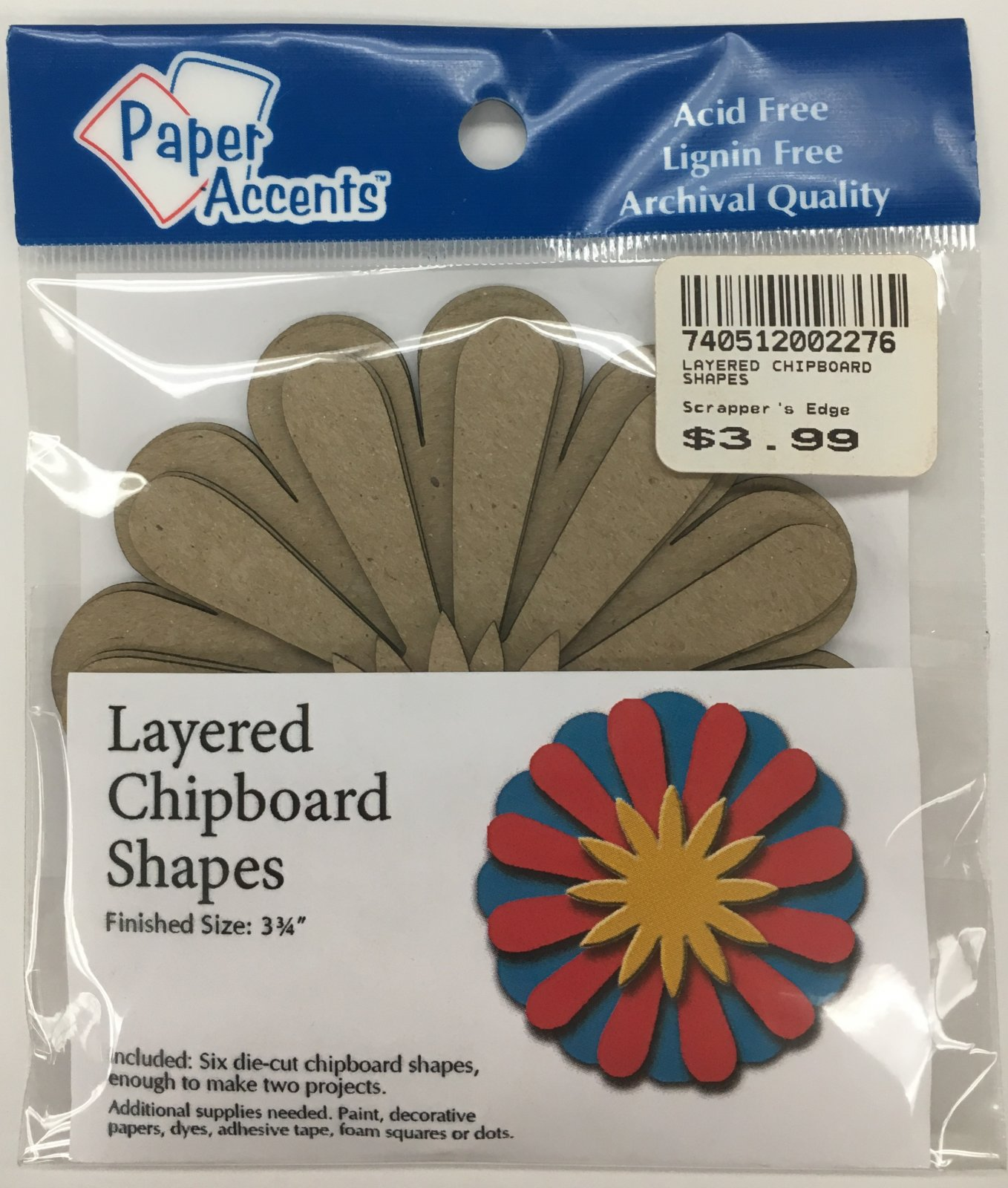 LAYERED CHIPBOARD SHAPES