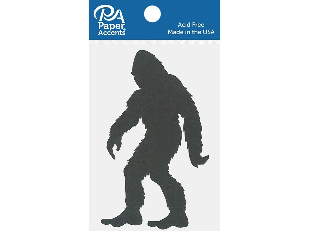 Chipboard Shapes - Bigfoot Black 4pc