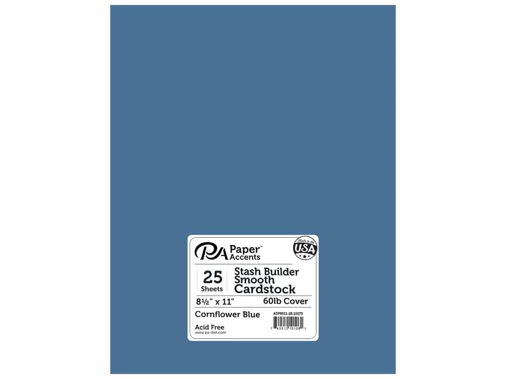 Cardstock 8.5x11 Cornflower Blue