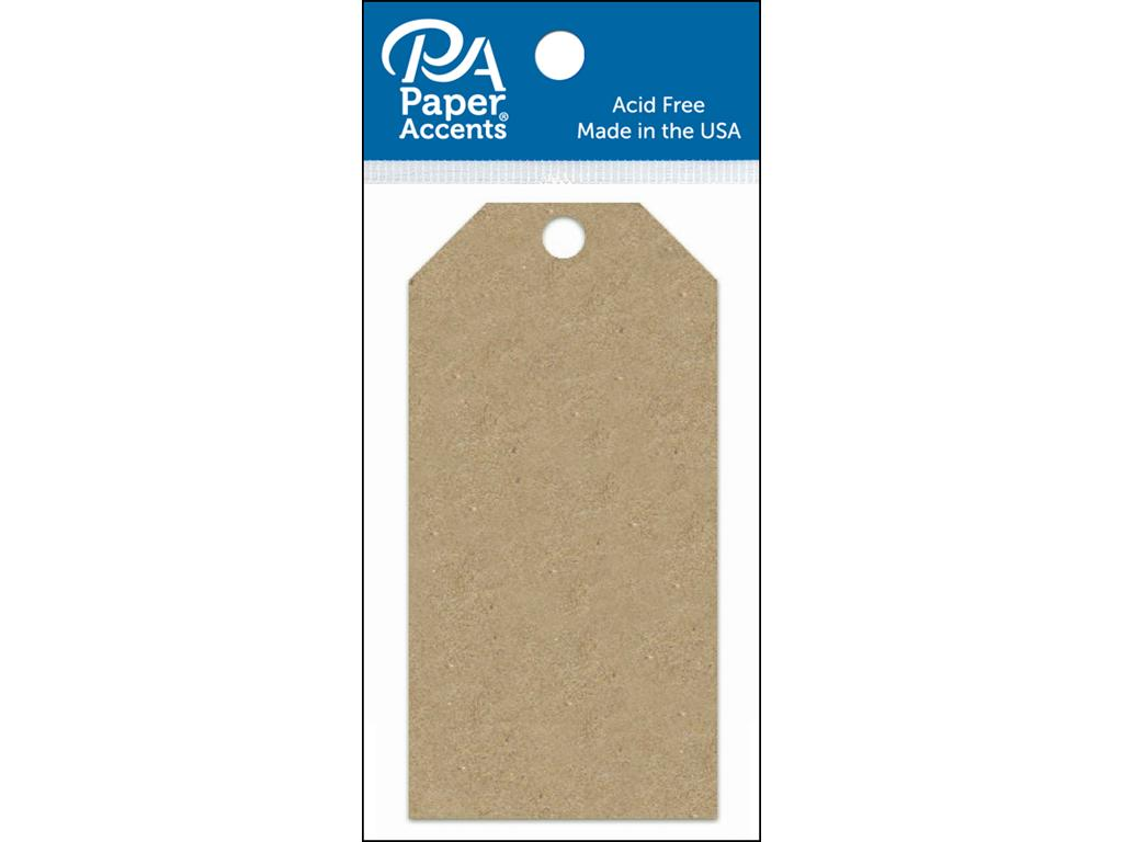 AD Paper Craft Tags 2.125x4.25 25pc Brown Bag -