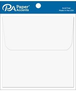 AD Paper Envelope 6.5x6.5 12pc White