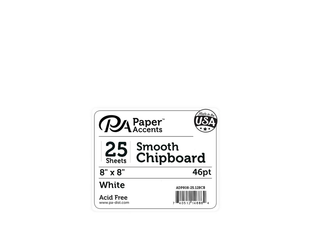 Paper Accents Chipboard 8x8 Extra Heavy White