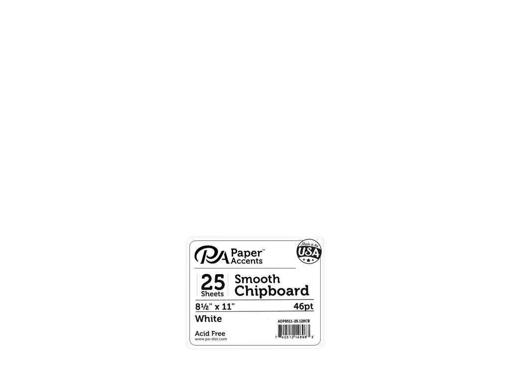 Paper Accents Chipboard 8.5x11 Extra Heavy White