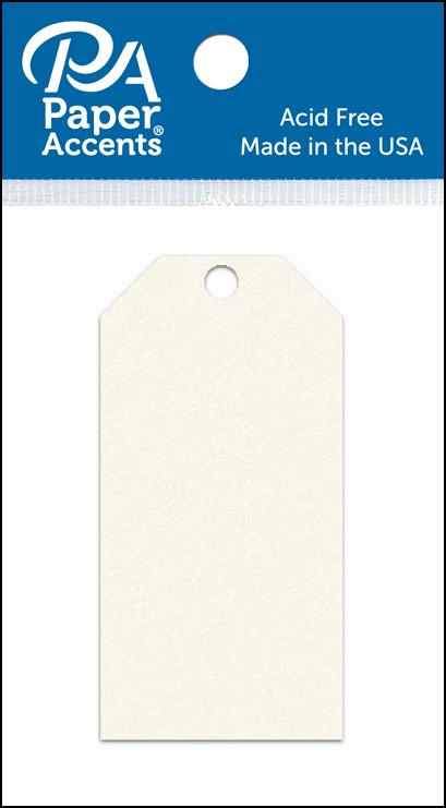 AD Paper Craft Tags 1.625x3.25 25pc Cream