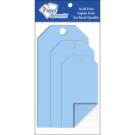 AD Paper Craft Tags Assorted Sz 5pc Clear Plastic - CLEARANCE