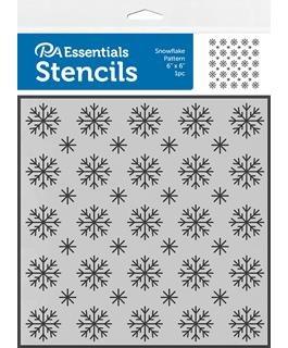 Stencil 6x6 Snowflake Pattern