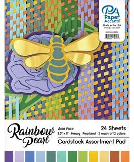Paper Accents Cardstock Pad - Rainbow Pearl