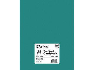 Pearlized Paper 8.5x11 80lb Emerald