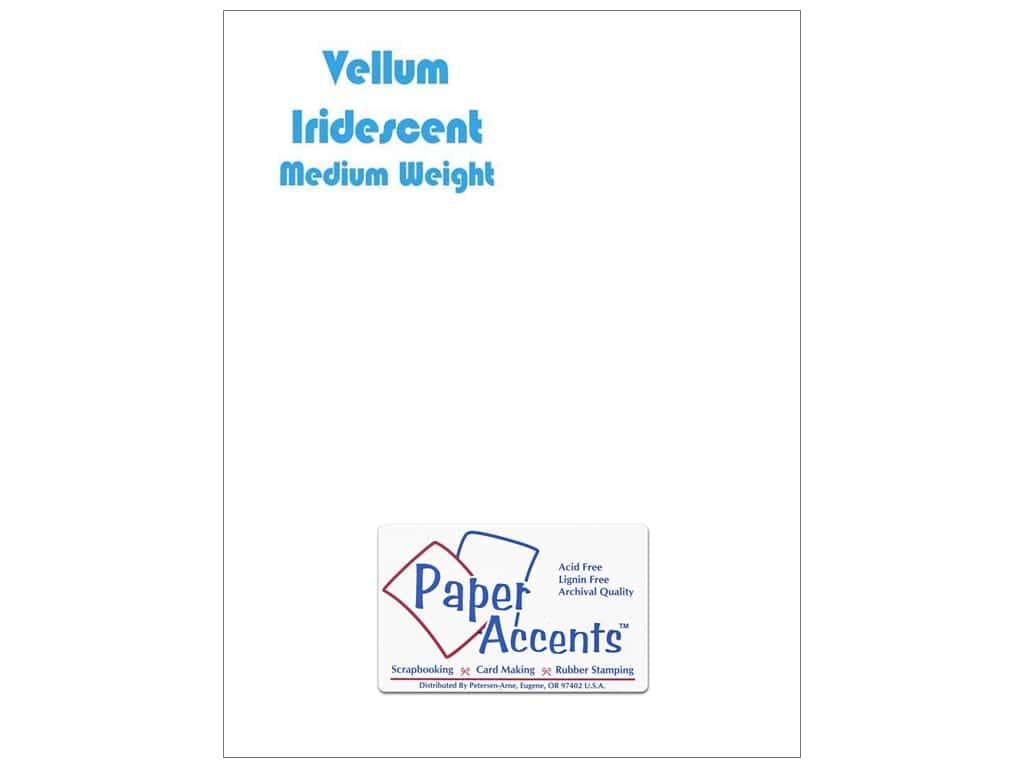 Paper Accents Vellum 8.5x11 Iridescent 25 PACK