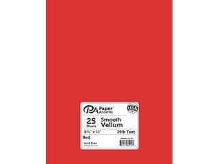 Vellum 8.5x11 29lb Red