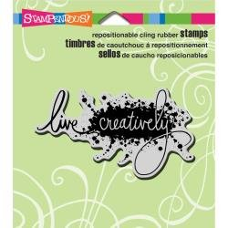 LIVE CREATIVELY-CLING RUBBER STAMP
