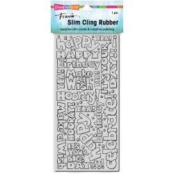 Stampendous Cling Stamp-Slim Birthday Words