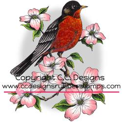 ROBIN     -DOVEART CLING STAMP