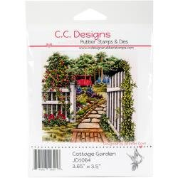 GARDEN    -DOVEART CLING STAMP