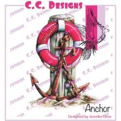 ANCHOR-DOVEART CLING STAMP