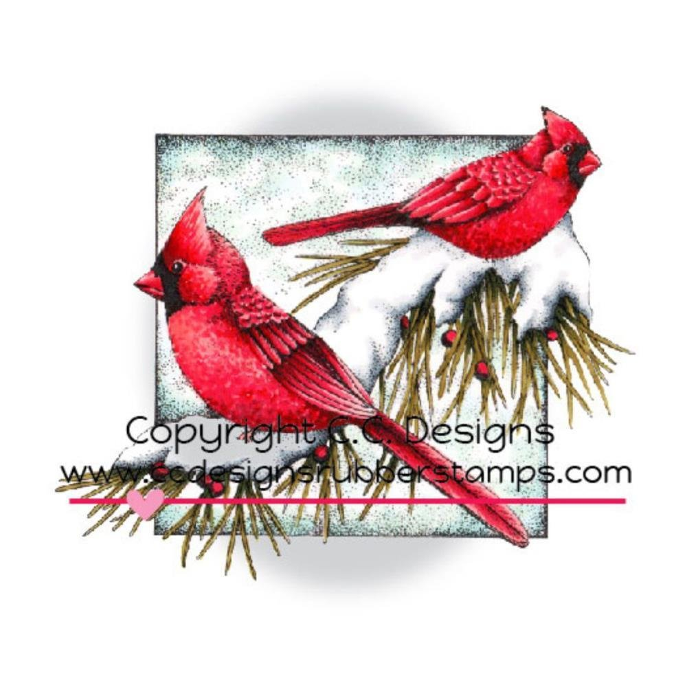 CARDINALS -DOVEART CLING STAMP