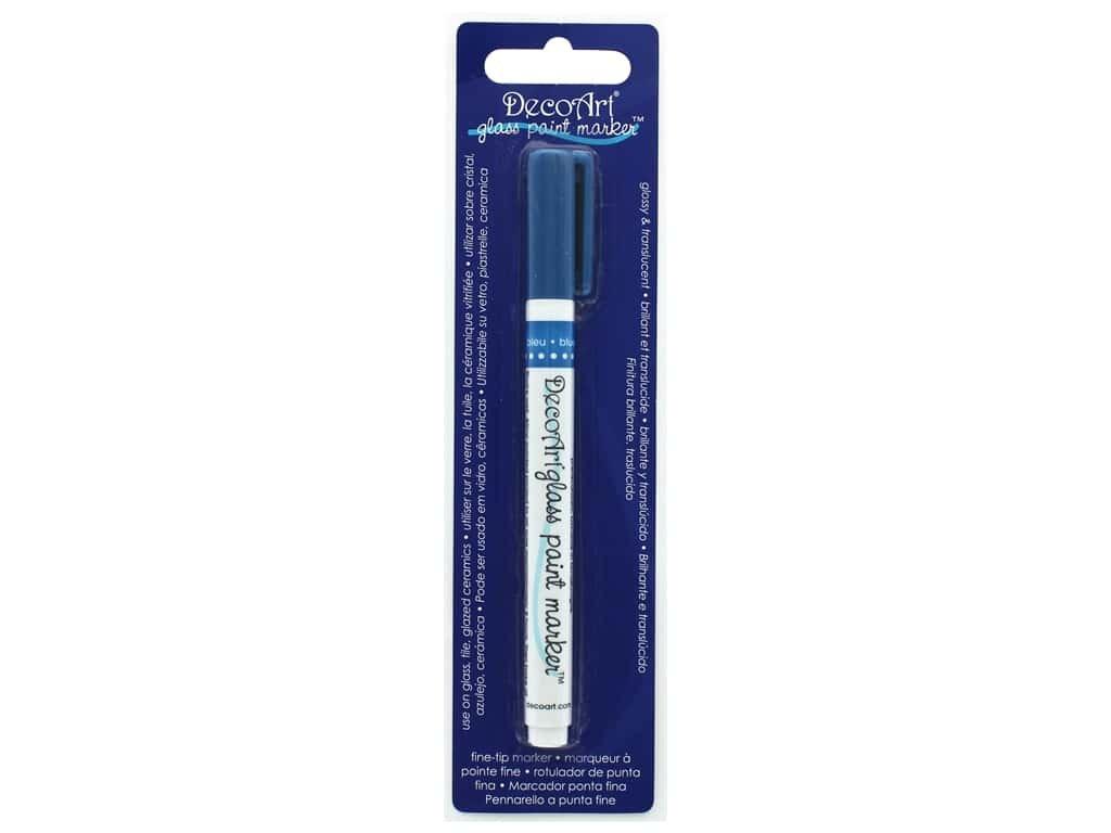 DecoArt Glass Paint Marker Blue