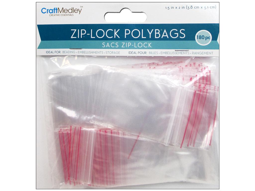ZIP-LOCK POLY BAGS 1.5:X2