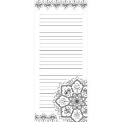 MEDALLION -COLORING NOTEPAD 4X9