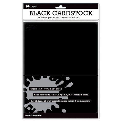 Ranger CARDSTOCK-BLACK