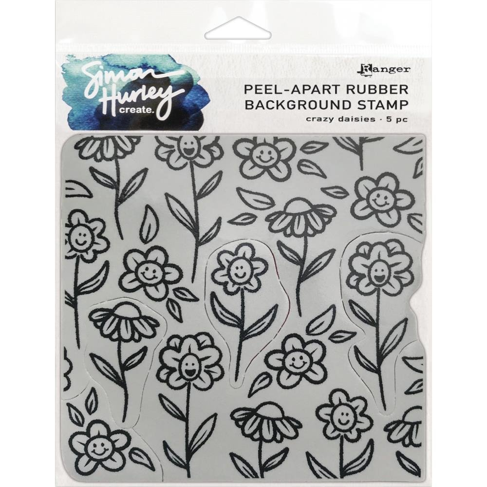 Simon Hurley create. Cling Stamps 6X6-Crazy Daisies