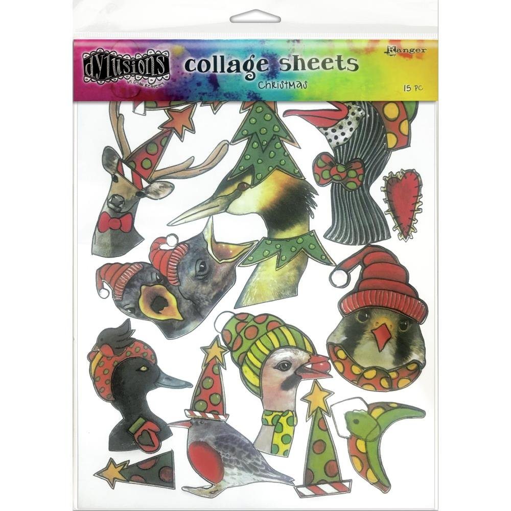 Dyan Reaveley's Dylusions Collage Sheets 8.5X11 15/Pkg-Christmas
