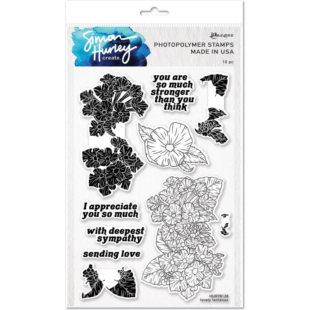 Simon Hurley create. Cling Stamps 6X9-Lovely Lantanas