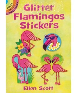 Dover Publications Little Glitter Flamingos Sticker Book
