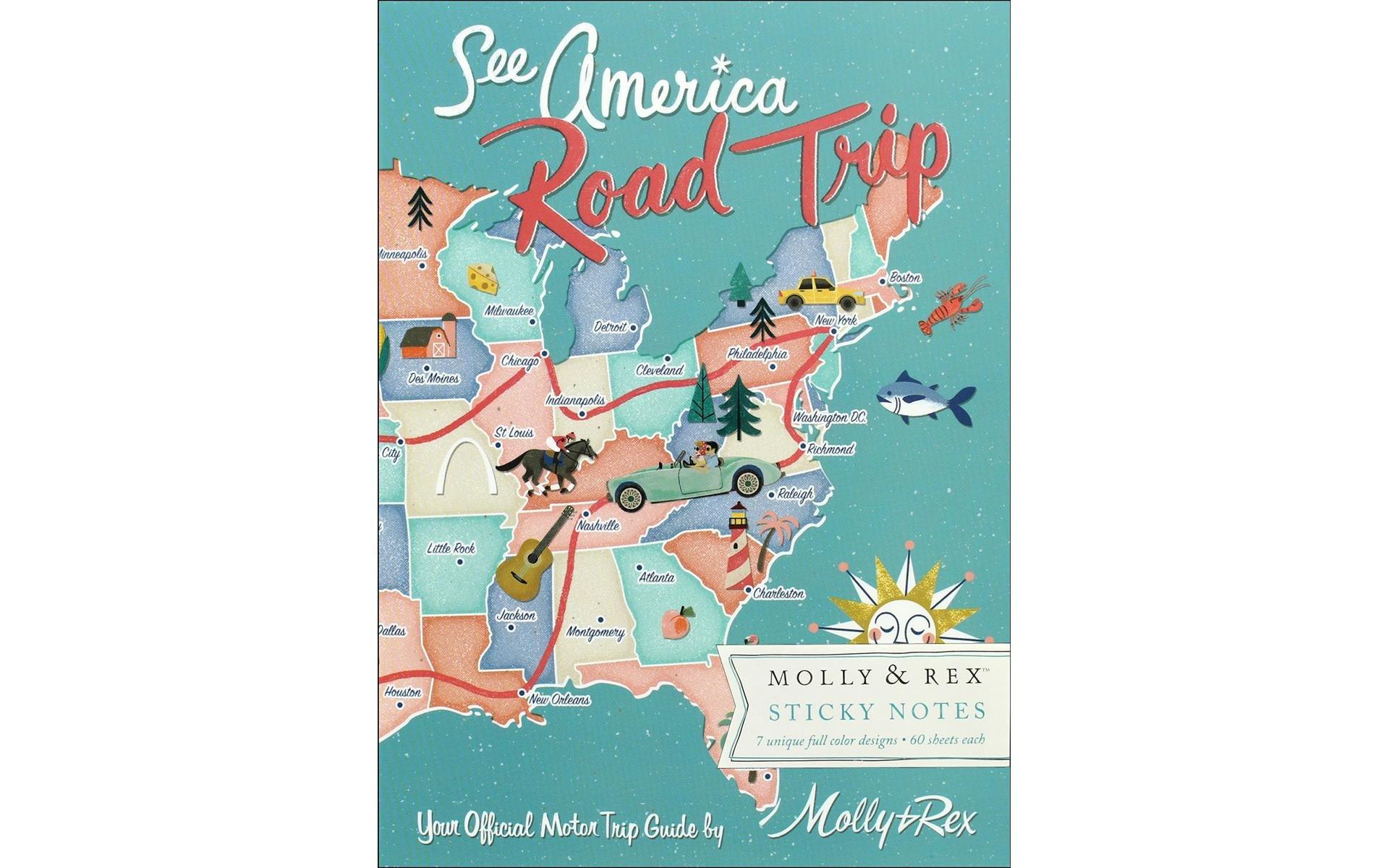 Molly & Rex Note Sticky Pad Portfolio Road Trip