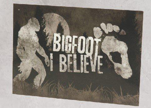 Postcard, Bigfoot, I Believe