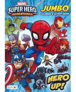 Bendon Super Hero Adventures Jumbo Coloring & Activity Book