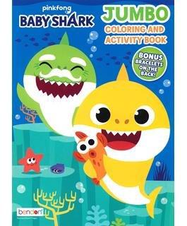 Jumbo Coloring & Activity Book Pink Fong Baby Shark