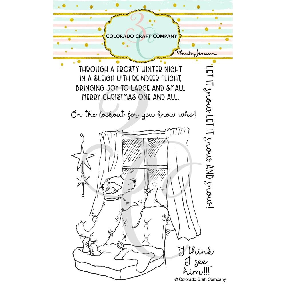 Colorado Craft Company Clear Stamps 4X6-On The Lookout-By Anita Jeram