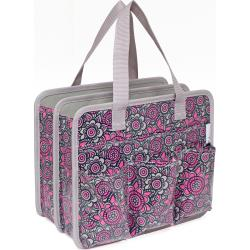 GRAY/PINK -CARRY ALL TOTE 10X12