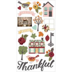 STICKERS  -VINTAGE BLESSINGS CHIPBOARD