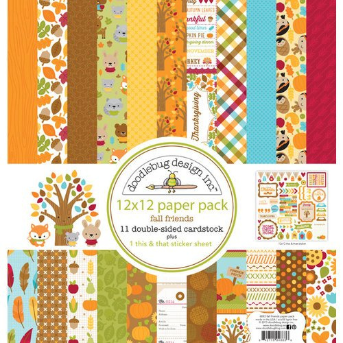 Doodlebug 12X12 FALL FRIEND PAPRPACK