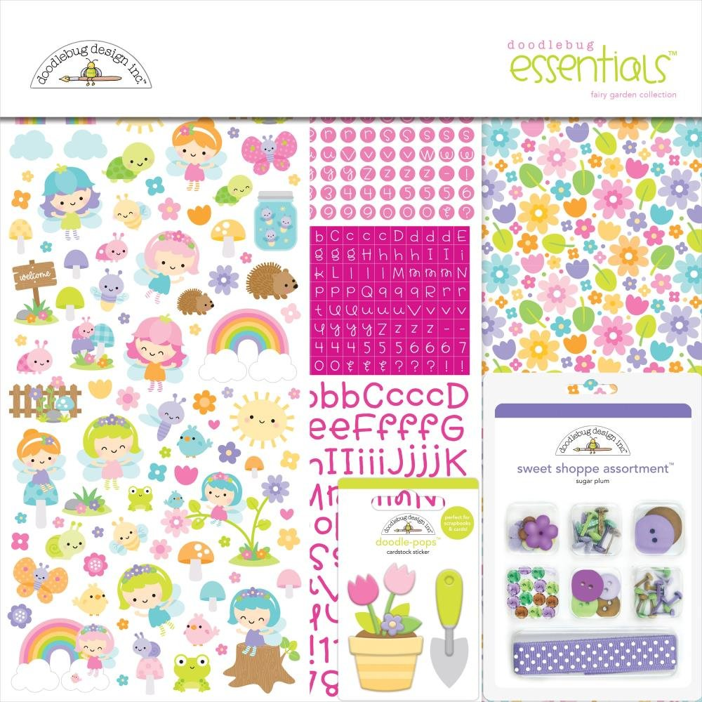 Doodlebug Essentials Page Kit 12X12 Fairy Garden